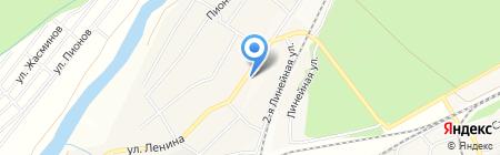 Магазин хозтоваров и отделочных материалов на ул. Ленина на карте Барышево
