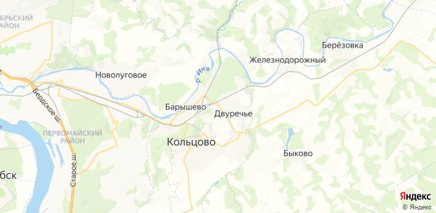 Двуречье на карте