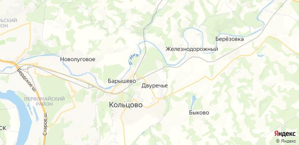 Крахаль на карте