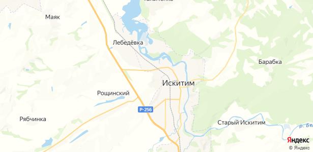 Чернореченский на карте
