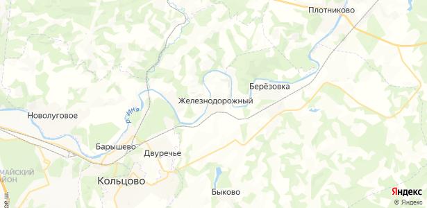 Железнодорожный на карте