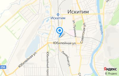 Местоположение на карте пункта техосмотра по адресу Новосибирская обл, г Искитим, ул Линейная, д 1А