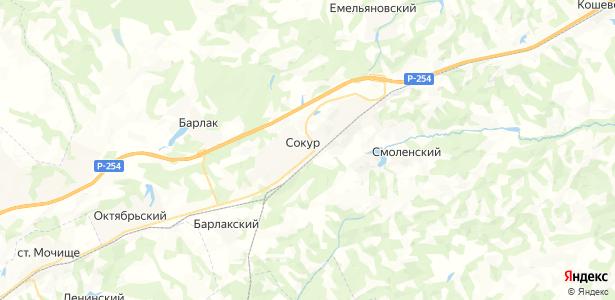 Сокур на карте