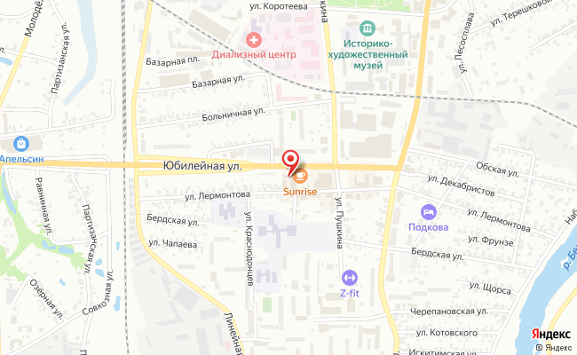 Карта расположения пункта доставки Ростелеком в городе Искитим