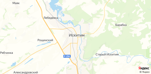 Искитим на карте