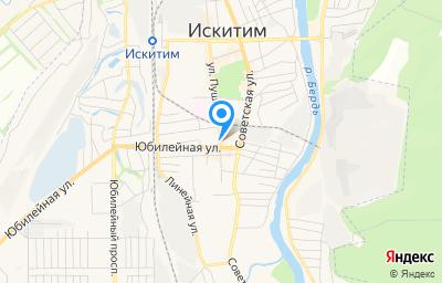 Местоположение на карте пункта техосмотра по адресу Новосибирская обл, г Искитим, ул Пушкина, д 81А