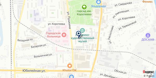 Магазин ритуальных услуг на карте Искитиме