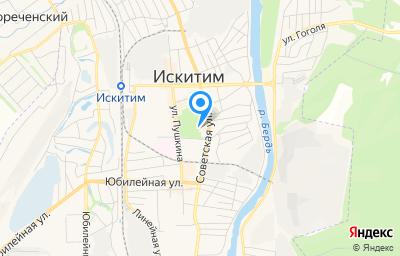 Местоположение на карте пункта техосмотра по адресу Новосибирская обл, г Искитим, ул Советская, д 230