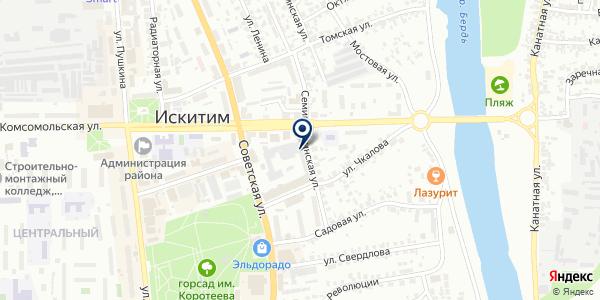 Фото на карте Искитиме