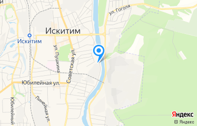 Местоположение на карте пункта техосмотра по адресу Новосибирская обл, г Искитим, ул Лесосплава, д 1А
