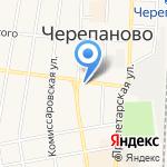 Центр на карте Черепаново