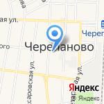Банк Левобережный на карте Черепаново