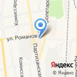 Киоск по продаже кондитерских изделий на карте Черепаново