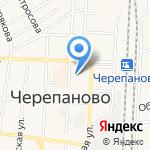 Незабудка на карте Черепаново