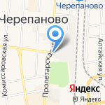 Венге на карте Черепаново