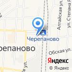 Привокзальный на карте Черепаново