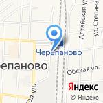Иня на карте Черепаново