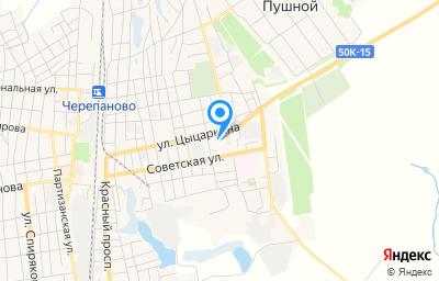 Местоположение на карте пункта техосмотра по адресу Новосибирская обл, г Черепаново, ул Цыцаркина, д 54
