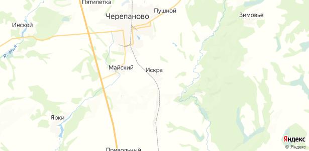 Искра на карте