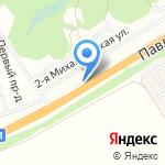 Берёзка на карте Барнаула