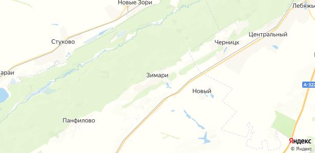Зимари на карте