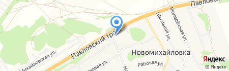 АЗС Трансойл на карте Барнаула