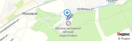 Барнаульская школа-интернат с первоначальной летной подготовкой им. Константина Павлюкова на карте Барнаула