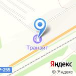 Транзит на карте Новосибирска