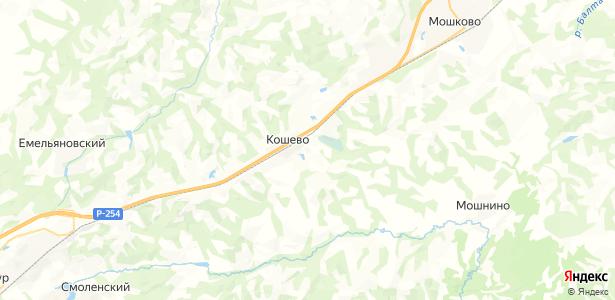 Кошево на карте