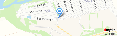 Обь-3 на карте Барнаула
