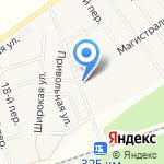 Кедр на карте Барнаула