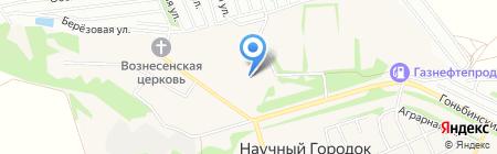 Пожарная часть №4 пос. Научный городок на карте Барнаула
