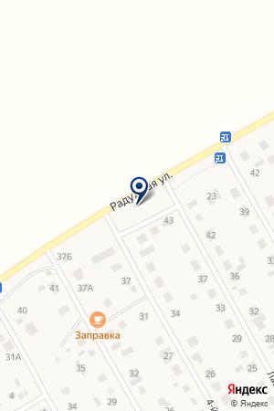 Автомастерская на Радужной на карте Барнаула