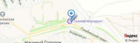 АЗС на карте Барнаула