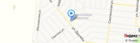 Зелёный на карте Барнаула