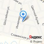 Октябрьское на карте Барнаула