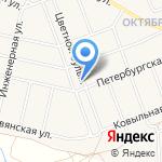 На Цветном на карте Барнаула