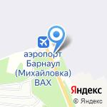 Аэропорт на карте Барнаула