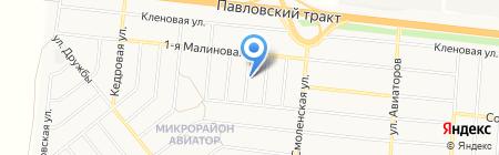 New line на карте Барнаула