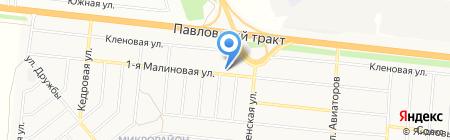 Бобрицкий А.С. на карте Барнаула