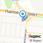 Козья полянка на карте Барнаула