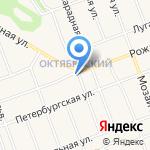 Спортивный зал на карте Барнаула