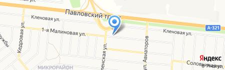 Администрация пос. Авиатор на карте Барнаула