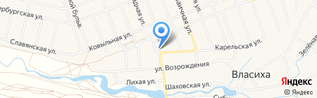 Чорон на карте Барнаула