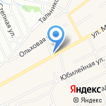 Тандем на карте Барнаула
