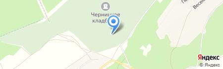 Черницкое кладбище на карте Барнаула