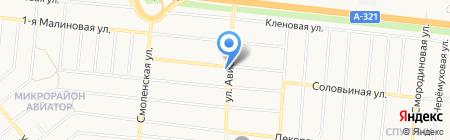 Мария-Ра на карте Барнаула