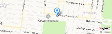 Лесопитомник на карте Барнаула