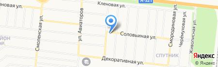 Веснянки на карте Барнаула