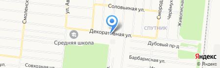 Территориальное общественное самоуправление пос. Спутник на карте Барнаула